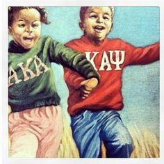 Alpha Kappa Alpha/Kappa Alpha Psi Aww reminds me of me and 2 of my closest friends.