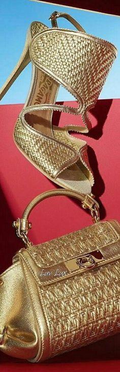 Gold Fashion, Fashion Shoes, Womens Fashion, Gold Rush, High End Fashion, Sexy Heels, Fashion Colours, Love And Light, Salvatore Ferragamo