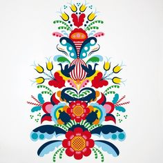 norwegian rosemaling cross stitch - Google Search