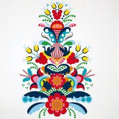 norwegian rosemaling cross stitch - Google Search