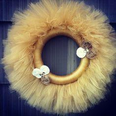 Gold Tulle Wreath. $47.00, via Etsy.