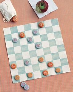 Canvas Checkerboard- would be a great idea to bring with if you want to play checkers on the beach! #boardgame