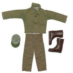Vintage GI Joe Long Brown Coat Overcoat Undercover Agent Trenchcoat Hasbro HK