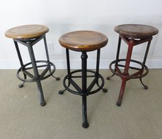 Antique Drafting Table Stools 3 antique adjustable industrial drafting table stools .  Need to get for my Drafting table.
