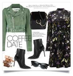 """Buzz-Worthy: Coffee Date"" by anchilly23 ❤ liked on Polyvore featuring Warehouse, Off-White, Alexander Wang, Chloé, H&M and Maybelline"