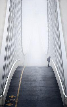 Fog Bridge, Osijek, Croatia photo via michelle Line Photography, Amazing Photography, Photography Ideas, Adventure Photography, Street Photography, Travel Photography, Dubrovnik, Beautiful Architecture, Landscape Architecture