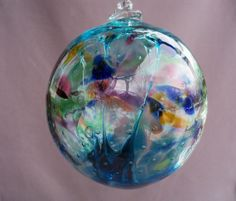 Hand Blown Art Glass Witch Ball/Ornament/Suncatcher by Route4glass, $30.00