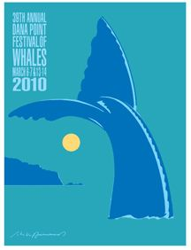 WHALE GRAPHIC POSTER