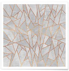 Shattered Concrete as Premium Poster by Elisabeth Fredriksson | JUNIQE