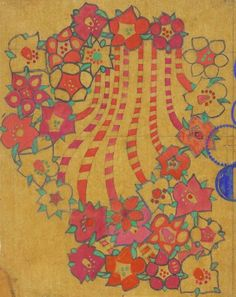 Charles Rennie Mackintosh, textile design: pink tobacco flower, 1915-23. © The Hunterian Museum and Art Gallery, University of Glasgow 2014.
