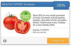 SavingStar Fresh Produce Coupon – 20% Off Any Loose Tomatoes