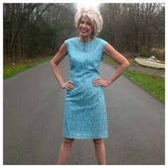 Check out this item in my Etsy shop https://www.etsy.com/listing/254965142/vintage-blue-lace-dress-by-sears-two