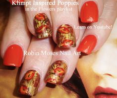 poppy nail for end of summer/fall!