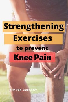 Strengthening Exercises to Prevent Knee Pain - - These exercises for knee pain can reduce the risk of knee issues by strengthening the muscles that support and stabilize the knee. Ankle Strengthening Exercises, Knee Pain Exercises, Knee Exercises For Runners, Exercises For Knees, Runners Knee Pain, Knee Stretches, Tummy Exercises, Fitness Exercises, Pilates