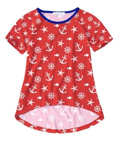 Red Anchor Hi-Low Tee - Toddler & Girls
