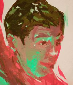 Painting on more color swatches from Lowes. #painting #portrait #boy #gouache #sketch #lowes