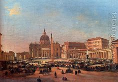 Ippolito Caffi:St. Peter's and the Vatican Palace, Rome
