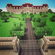 Mansion - Minecraft, Pubg, Lol and Minecraft Villa, Minecraft Mansion, Minecraft Structures, Minecraft City, Amazing Minecraft, Minecraft Construction, Minecraft Architecture, How To Play Minecraft, Minecraft Skins