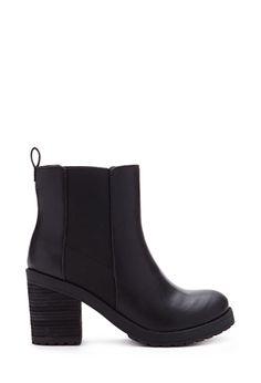Stacked Heel Booties | FOREVER21 - 2000119956