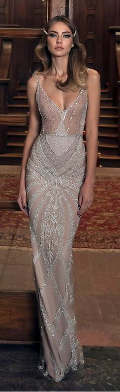 Apr 2020 - Evening Gowns Formal Dresses for Women Grey Formal Dresses With Sleeve – dearmshe Formal Dresses With Sleeves, Nice Dresses, Girls Dresses, Bridal Gowns, Wedding Gowns, Party Gowns, Fashion Capsule, Beautiful Gowns, Simply Beautiful