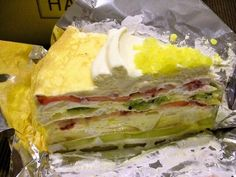 Crepe sandwich with cream and loads of fresh fruit