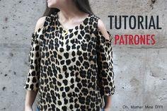 DIY: cómo hacer blusa con hombros descubiertos (patrones gratis) | Manualidades
