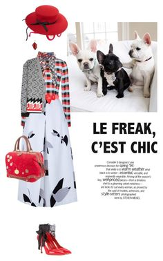 """""""Le freak, c'est chic"""" by pensivepeacock ❤ liked on Polyvore featuring Prada, Tanya Taylor, TIBI, Miu Miu, Loewe, Chanel, Thierry Lasry, STELLA McCARTNEY, Gucci and women's clothing"""