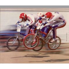 Going back to '84 for a second with 3 Californians on test for BMX Action. That's Eric Rupe (red tyres) at Van Nuys. Iconic to say the least. #Lookbackbmx #bmx #midschool #midschoolbmx #90sbmx #80sbmx #70sbmx #mongoosebmx Bob Osborn.