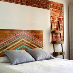 cabeceros de madera Rooms Home Decor, Diy Home Decor, Bedroom Decor, Baby Bedroom, Girls Bedroom, Master Bedroom, Estilo Navajo, Wood Pallet Art, Beautiful Bedrooms