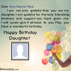 Name Birthday Wishes For Daughter From Mom