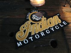 Large Indian motorcycle patch Mint condition by IronCrowVintage, $21.99 SOLD!