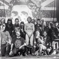 Hanging with Asking Alexandria band and crew. Photo by elmakias #AA