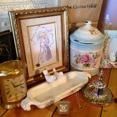 Vintage. Eclectic. Unique. Just a few of our favorites. #theclutterhouse #vintage #homedecor