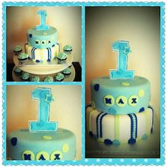 Boy Birthday Cake Blue and green!   Cake Adoration: Photo Gallery