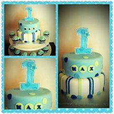 Boy Birthday Cake Blue and green!   Cake Adoration: Photo Gallery