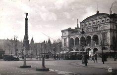 La place du Châtelet à Paris dans les années 1950.