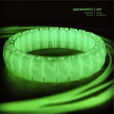 3d printing with luminous PLA http://parametric-art.com/2013/10/02/3d-nyomtatas-otthon-specialis-anyagokkal/
