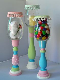 Easter Jars created with FolkArt paints