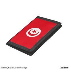 Tunisia, flag trifold wallet