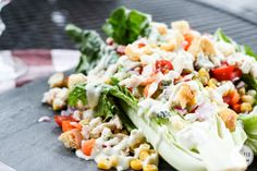 Veggie Wedgie Salad | Inspired by Charm