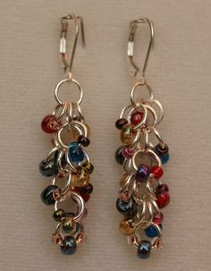 MultiColored Sterling Silver Chainmaille by SylvieSmileyDesigns