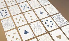 Cartes à jouer épurées par Krisztina Berta #design #graphisme #card #game