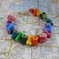 Colored Pencil, Beaded Bracelet, Jewelry, Charm Bracelet, Upcycled, Teacher, Artist, Gift, Recycled, Friendship, Rainbow, Multi Colo. $15.00, via Etsy.