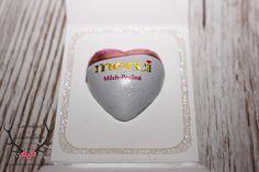 Gastgeschenk mit Merci Herzen (Verpackung) zur Hochzeit