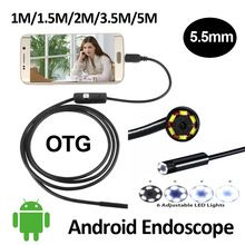 Surveillance Cameras Generous 6 Led 5.5mm Lens Endoscope Waterproof Inspection Borescope For Android Focus Camera Lens Usb Cable Waterproof Endoscope Spare No Cost At Any Cost