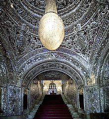 Large scale application of mirror mosaics in the hall of Golestan Palace - Iran, Teheran