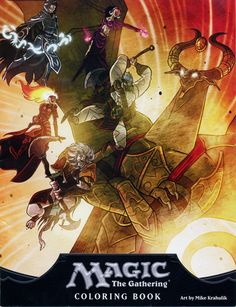 The Magic: The Gathering Coloring Book : Daily MTG : Magic: The Gathering OMG my daughter might actually use a coloring book if I got her this!!