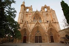The world's most magnificent mosques:      Lala Mustafa Paşa Mosque, Famagusta, Cyprus:     Cyprus is a land of contrasts, torn between Greek and Turkish lineage. This 14th-century mosque is actually in Turkish Famagusta, known locally as Gazimağusa, and it used to be a cathedral. Consecrated as St Nicholas' in 1328, at first glance this seems like a classical French structure with ornate design and rich tracery detail. But what's this?