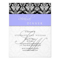 ShoppingPeriwinkle Blue Damask Monogram Rehearsal Dinner Invitationsin each seller & make purchase online for cheap. Choose the best price and best promotion as you thing Secure Checkout you can trust Buy best