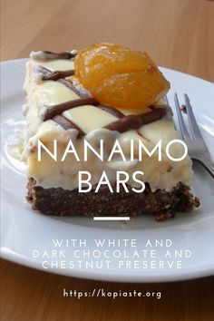 White Chocolate and Chestnut Nanaimo Bars